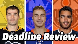 Reviewing The 2020 Nhl Trade Deadline