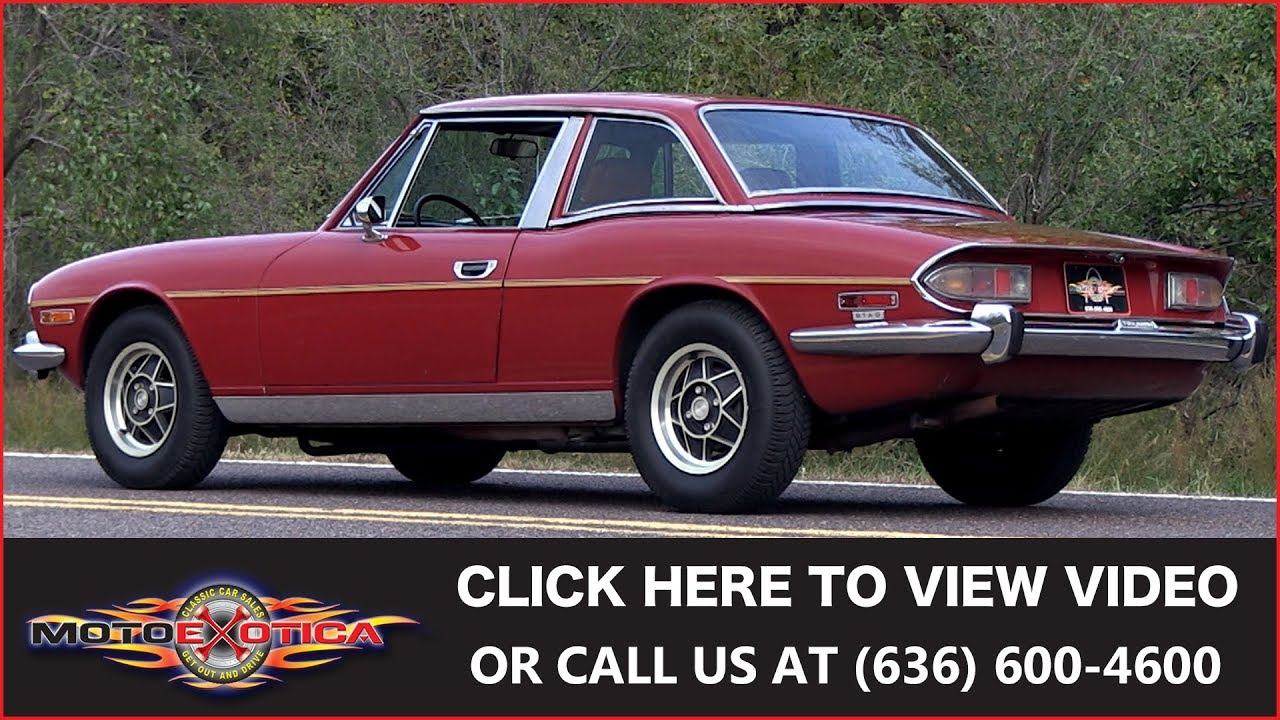 1973 Triumph Stag    SOLD - YouTube