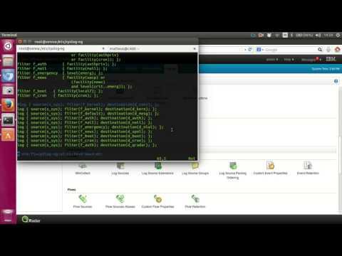 Integrando Linux com QRadar usando syslog-ng