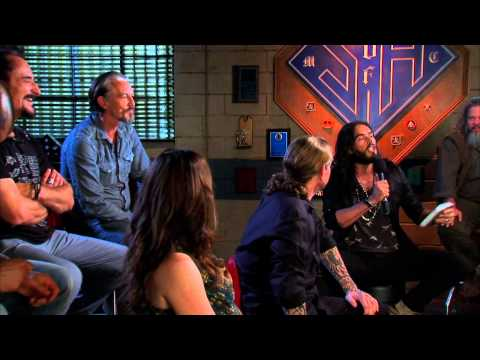 Ss of Anarchy cast interviewed  Russell Brand 2012