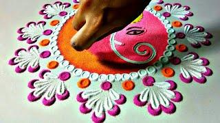 Shri Ganesh rangoli | Ganpati rangoli | rangoli for Ganesh utsav