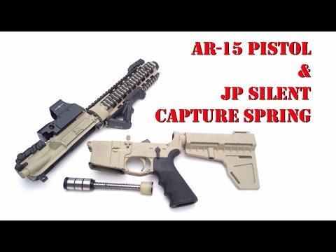 JP Silent Capture Spring in an AR15 Pistol It Works!