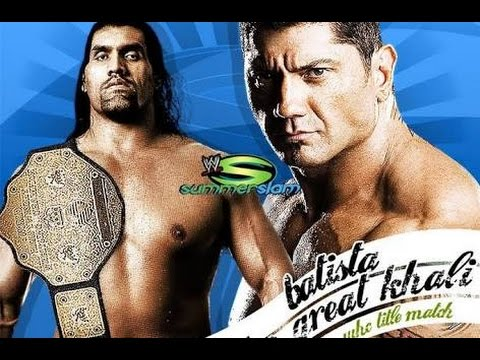 Batista vs The Great Khali wwe Summerslam...