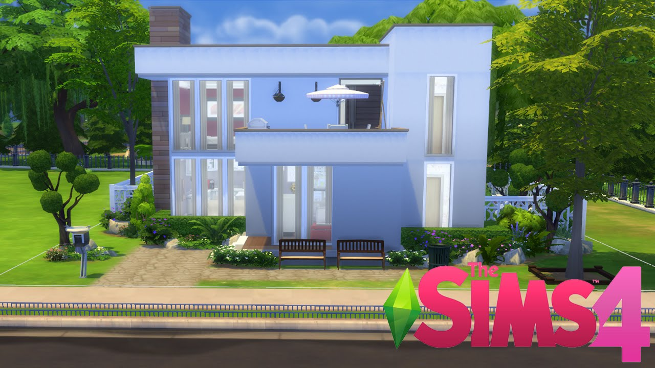 The sims 4 casa moderna sem cps speed build youtube Casas modernas sims 4 paso a paso