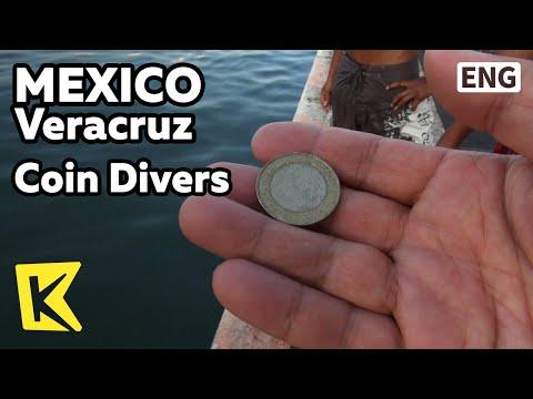 【K】Mexico Travel-Veracruz[멕시코 여행-베라크루즈]바다 속 동전 찾는 부둣가 청년들/Coin Divers/Sea/Harbor