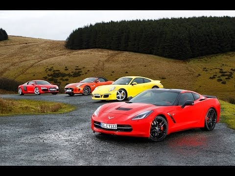 USA 1, Europe 0: Chevrolet Corvette C7 Stingray vs Porsche 911, Audi R8 and Jaguar F-type