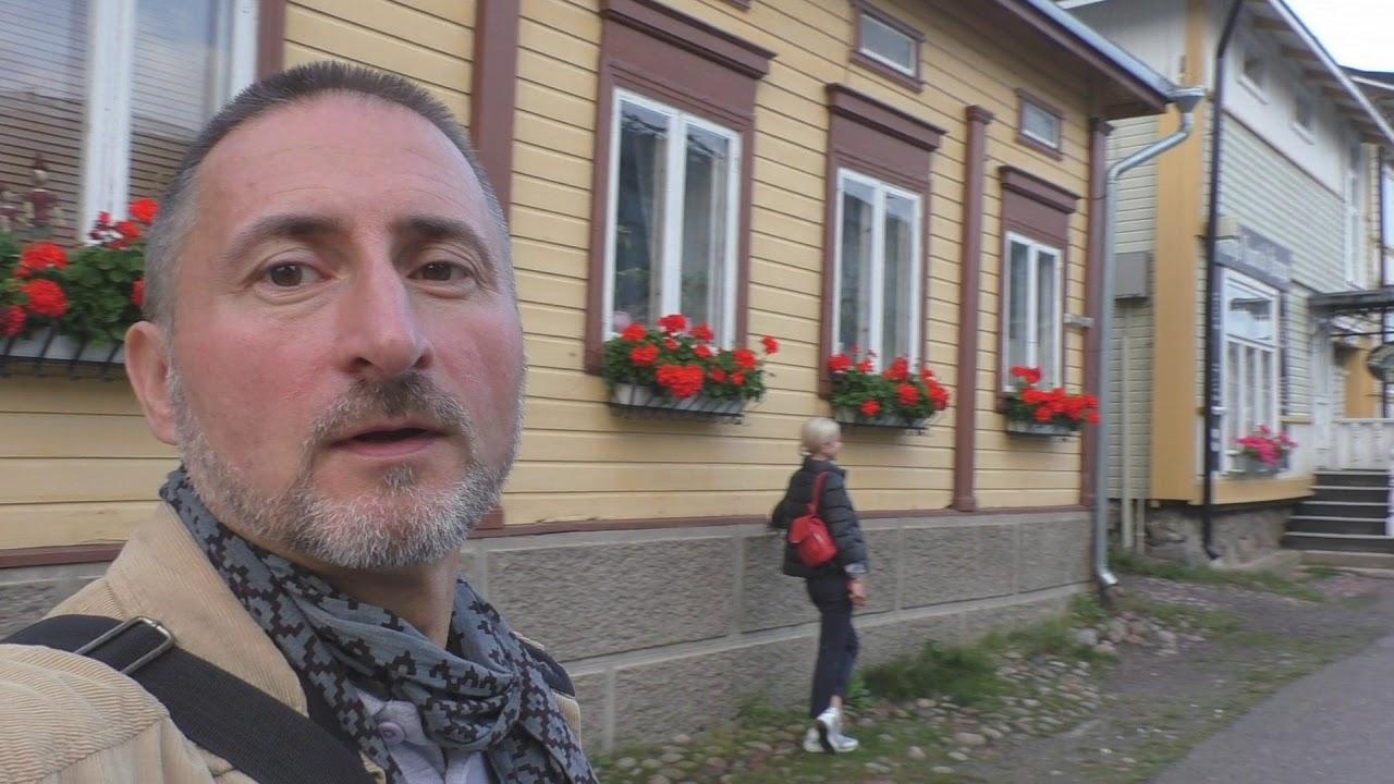 Прогулка по исторической части городка Наантали, Финляндия.