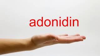 How to Pronounce adonidin - American English
