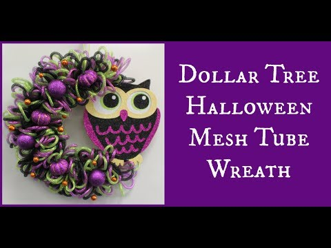 Dollar Tree Halloween Mesh Tube Wreath