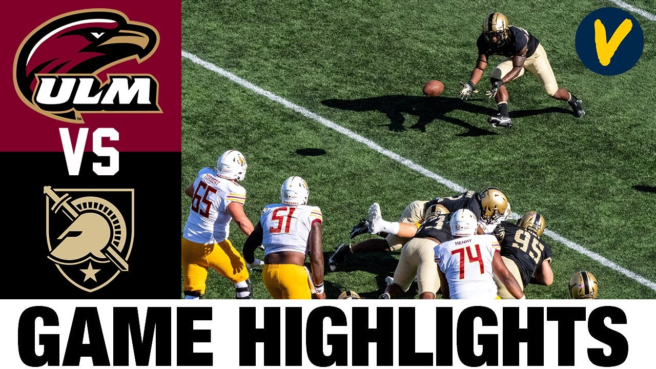 ULM vs Army Highlights | Week 2 College Football Highlights | 2020 College Football