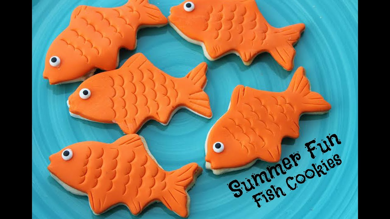 How to make fondant covered fish cookies youtube for How to make fish