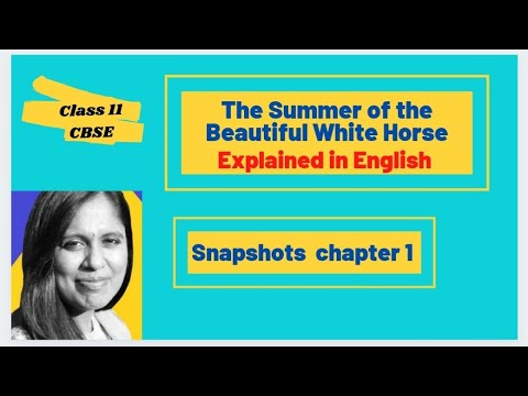 The Summer Of The Beautiful White Horse William Saroyan English