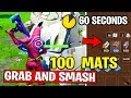 COLLECT 100 OF EACH MATERIAL WITHIN 60 SECONDS AFTER LANDING FROM THE BATTLE BUS CHALLENGES FORTNITE