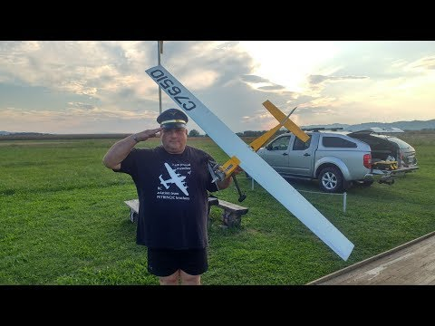WANKEL OS 5cc on 1.8m Glider Frankie Boy Crash & Maiden & Dead stick landing