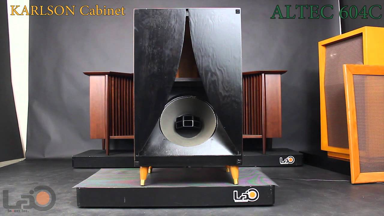 Altec 604C + Karlson Cabinet - YouTube