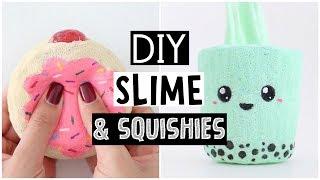 MAKING 4 AMAZING DIY SLIMES & SQUISHIES - Easy NO GLUE Slime Recipes!