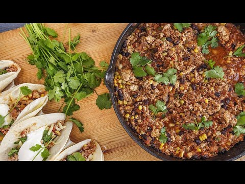 Anne Burrell's 10-Minute Skillet Chicken Tacos