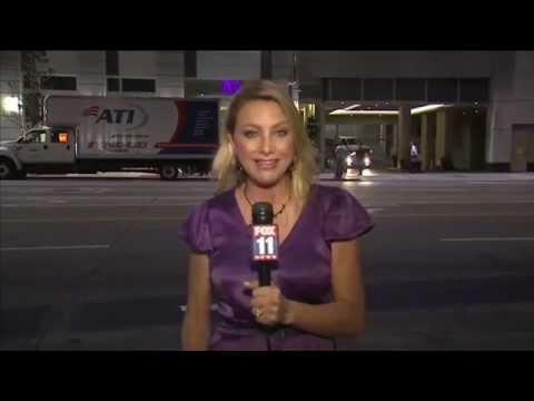 FOX LA News Downtown LA High Rise Flood