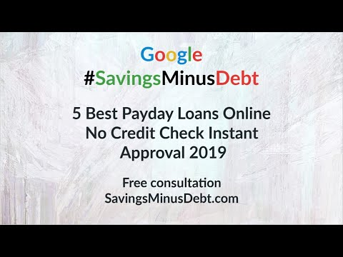 5 Best Payday Loans Online No Credit Check Instant Approval 2019