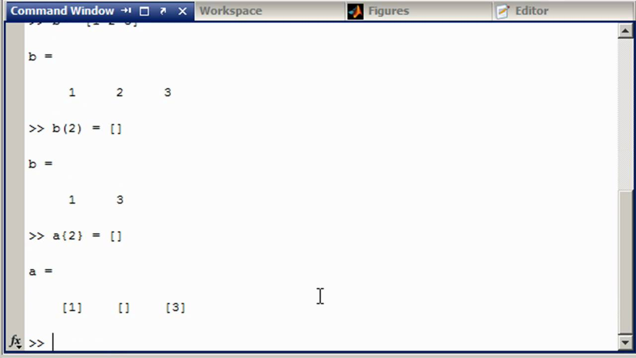 Deleting an element from a cell array » Stuart's MATLAB Videos