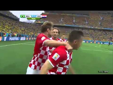 Own goal Marcelo Brazil 0 Croatia 1
