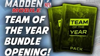 Madden Mobile - Team Of The Year Bundle Opening!