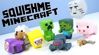 Minecraft Squishme Toys Creeper Full Collection Review 2018