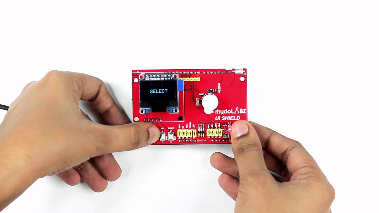 User Interface Shield with LCD (16X2) : rhydoLABZ INDIA