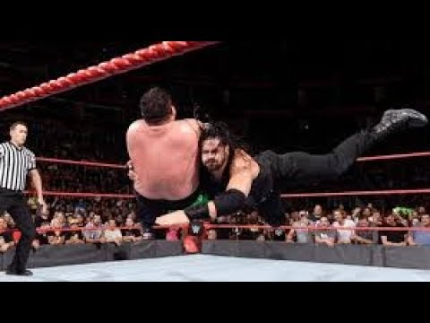 Roman Reigns vs. Samoa Joe - Intercontinental Championship Match: Raw, Jan. 1, 2018 thumbnail