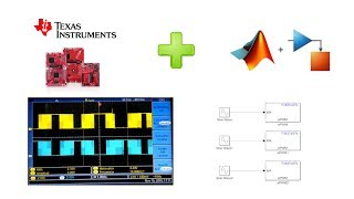 Simulink F28379D F28377 F28335 F28027 PWM Trifasico Seno Texas Instruments