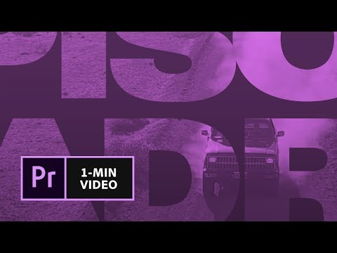 How To Make A Movie Title In Premiere Pro | Adobe Creative Cloud