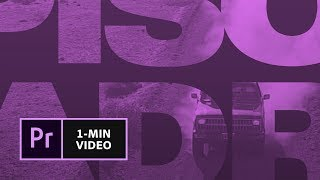 How to Make a Movie Title in Premiere Pro   Adobe Creative Cloud