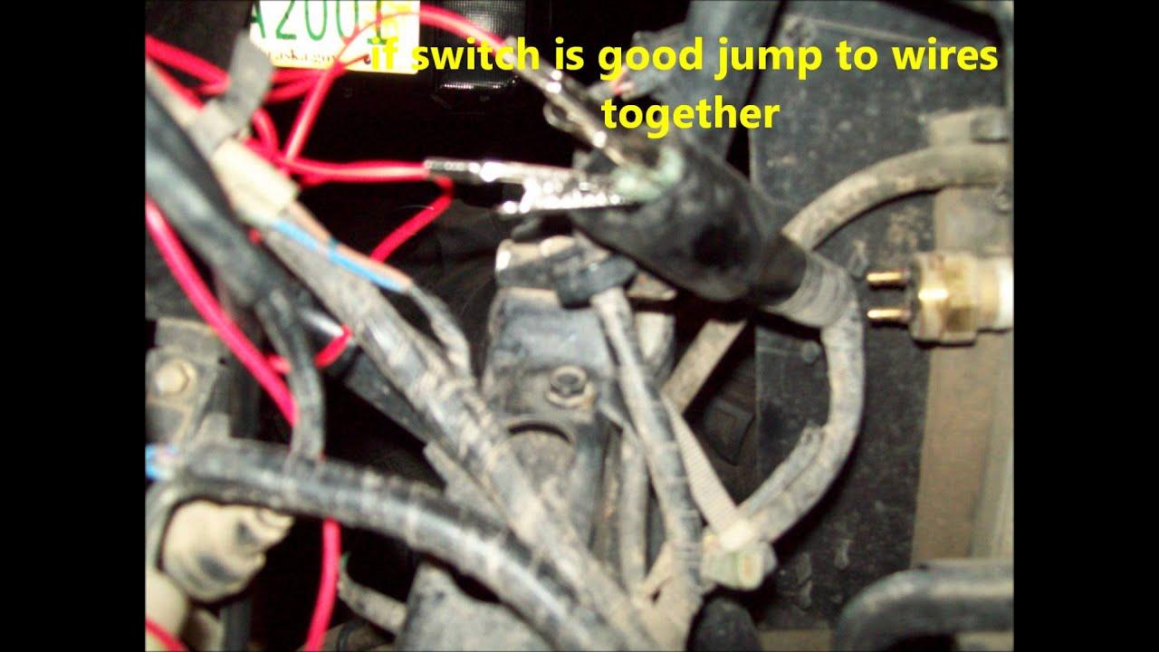 kawasaki brute force fan problems fixing fan wiring harness  YouTube