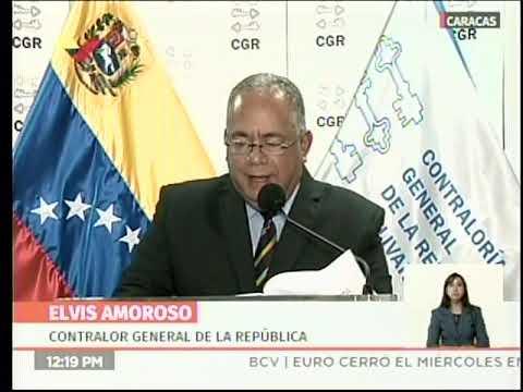 Contralor Elvis Amoroso anuncia sanciones a directivos nombrados por Guaidó en Pdvsa y Citgo