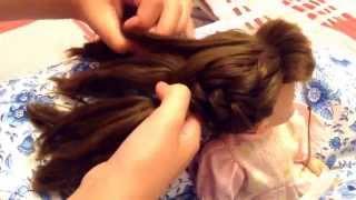 Видеоурок плетения колоском на примере куклы