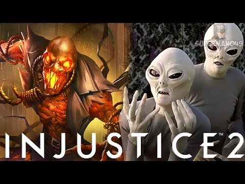 "FIRST EVER INJUSTICE MATCH VS REAL ALIENS... I SWEAR - Injustice 2 ""Scarecrow"" Legendary Gear"