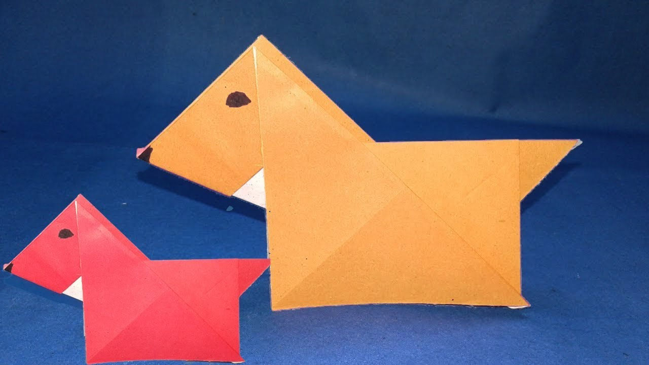 how to make a paper dog easy