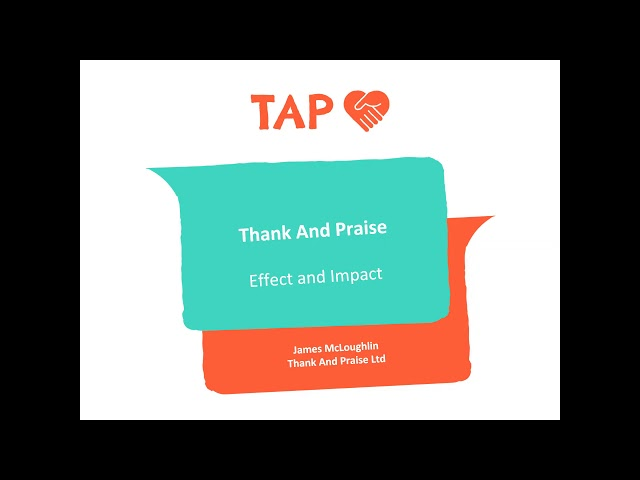 Workforce Wellbeing Conference - TAP Thank And Praise