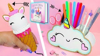 🦄DIY: Unicorn School Supplies || Infinite Pen and Pencil Holder || Unicorn Crafts Book 🦄
