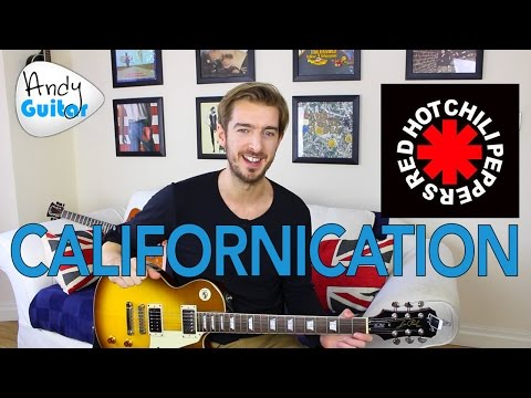 Red Hot Chili Peppers - Californication Guitar Lesson Tutorial ( All Chord & Riff sections )