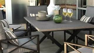 Madison Outdoor Dining Set Seats 6 - Product Review Video