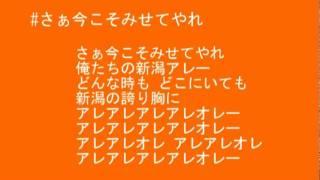 アルビレックス新潟2012新応援歌です!! 日本語の歌詞のところは跳ねないで手...
