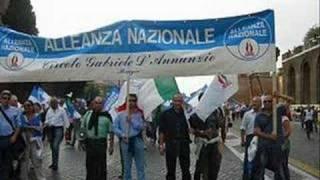 Corteo Alleanza Nazionale Roma 13 ottobre