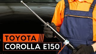 Wie Sie Bremssteine beim TOYOTA COROLLA Saloon (E15_) selbstständig austauschen - Videoanleitung