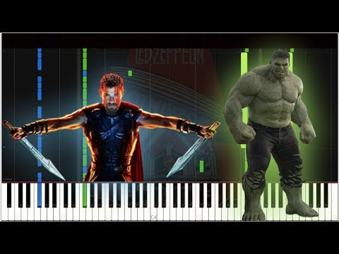 Thor RagnarokLed Zeppelin  Immigrant Song  Piano Tutorial Synthesia