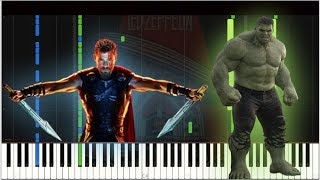 Thor Ragnarok/Led Zeppelin - Immigrant Song | Piano Tutorial/Cover (Synthesia)