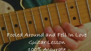 Guitar solo lesson: Fooled Around and Fell In Love - Elvin Bishop