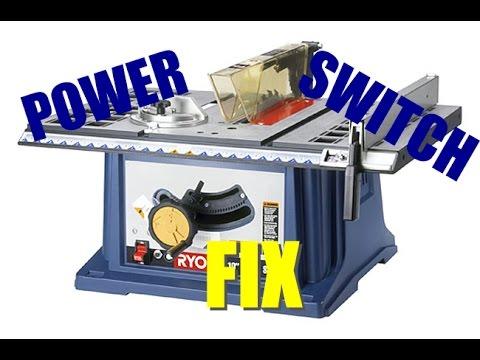 """How To Fix Ryobi 10"""" Table Saw Power Switch - YouTube"""