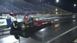 Kevin Swaney drag racing the Tin Indian Performance Pontiac Dragster goes 7.18 @ 186