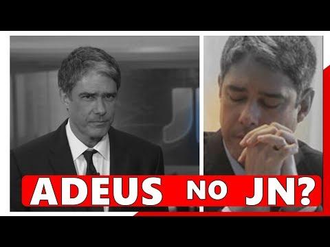 Apos muitos anos no Jornal Nacional da Globo apresentador William Bonner pode deixar jornalistico